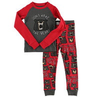 Lazy One Toddler Boy's Don't Wake The Bear PJ Set