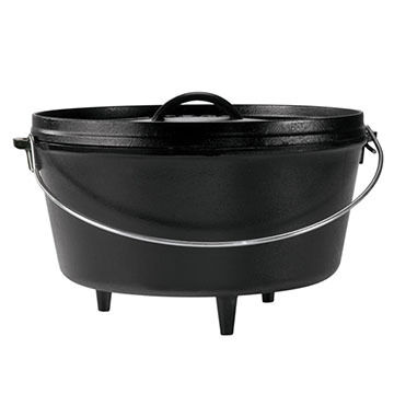 "Lodge 12"" / 8 Quart Deep Camp Dutch Oven"