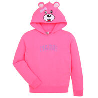 Wild Child Hoodies Girls' Pink Bear Hoodie