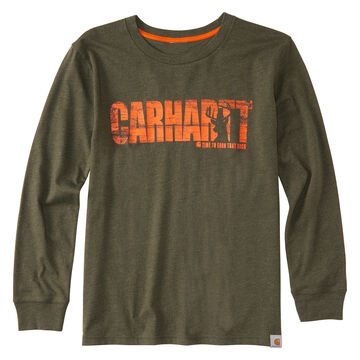 Carhartt Boys Earn That Buck Long-Sleeve T-Shirt