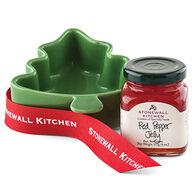 Stonewall Kitchen Red Pepper Jelly Tree Ramekin Gift Set