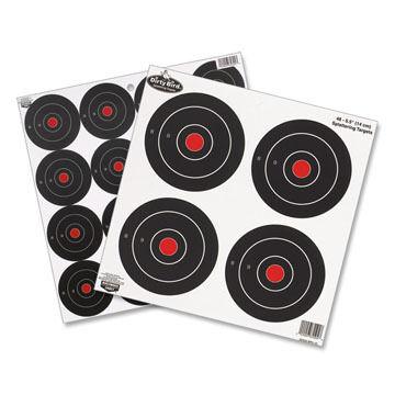 Birchwood Casey Dirty Bird Rapid Fire 3 & 6 Bulls-Eye Target - 12 Pk.