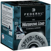 "Federal Speed-Shok Steel Waterfowl Load 12 GA 2-3/4"" 1-1/8 oz. #2 Shotshell Ammo (25)"