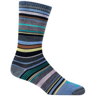 Farm To Feet Women's Ithaca Multi-Stripe Ultralight Crew Sock