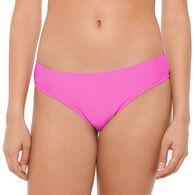 Hot Water Women's Solid Hipster Swimsuit Bottom