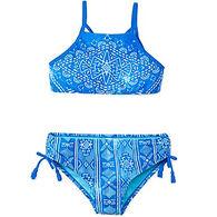 Breaking Waves Girl's Blue Lagoon Bikini Two-Piece Swimsuit