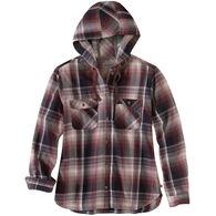 Carhartt Women's Beartooth Hooded Flannel Long-Sleeve Shirt