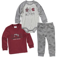 Carhartt Infant Boy's Farm Raised Printed Pant 3-Piece Set