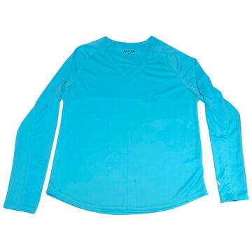 Bimini Bay Womens Cabo V-Neck UPF Long-Sleeve Shirt
