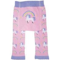 Huggalugs Infant/Toddler Girl's Unicorn Knit Pant
