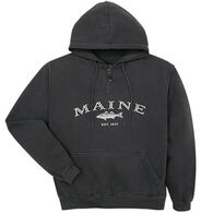 Austins Men's Maine Striped Bass Hooded Sweatshirt