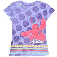 Lakeshirts Girls' Blue 84 Maine Lobster Short-Sleeve T-Shirt