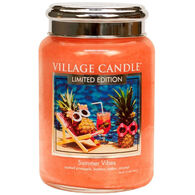 Village Candle Large Glass Jar Candle - Summer Vibes