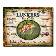 Desperate Enterprises Lunkers Lures Tin Sign