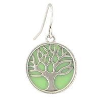Baked Beads Women's Opaque Enamel Tree of Life Earring