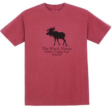 Original Design Mens Black Moose Short-Sleeve T-Shirt