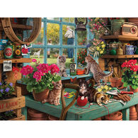 White Mountain Jigsaw Puzzle - Curious Kittens
