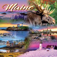 Maine Scene Maine 2018 Table-Wall Calendar