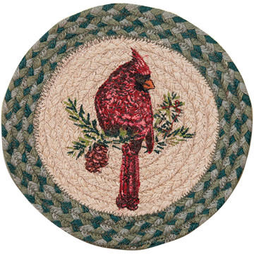 "Capitol Earth Cardinal 10"" Round Braided Rug"