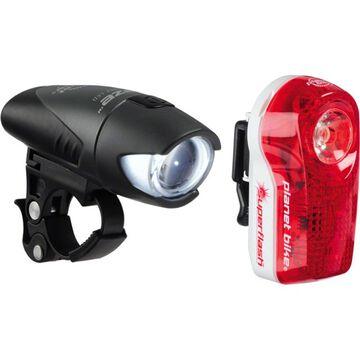Planet Bike Blaze 1/2 Watt & Superflash Bicycle Light Set