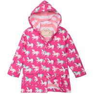 Hatley Girl's Mystical Unicorns Color Changing Rain Jacket