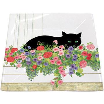 Paperproducts Design Black Cat Flower Box Plate