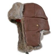 Mad Bomber Men's Leather Fur Trim Bomber Hat