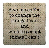 Paisley & Parsley Designs Coffee And Wine Marble Tile Coaster