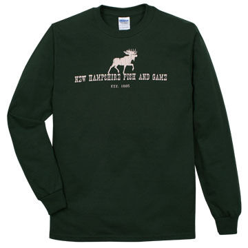 NH Fish and Game Mens Moose Long-Sleeve T-Shirt