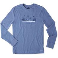 Life is Good Men's Lake It Easy Crusher Long-Sleeve T-Shirt