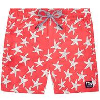 Tom & Teddy Boy's Rose & Blue Starfish Short