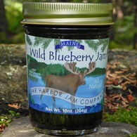 Bar Harbor Jam Company Wild Maine Blueberry Jam with Moose Label, 2 oz.