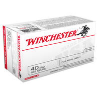 Winchester USA 40 Smith & Wesson 165 Grain FMJ Handgun Ammo (100)