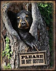 Wild Wings Please Do Not Disturb Tin Sign