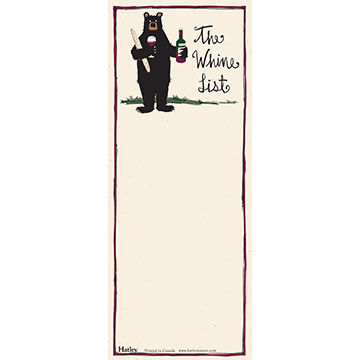 Hatley The Wine List Note Pad