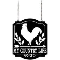 Carson Home Accents My Country Life Metal Garden Flag