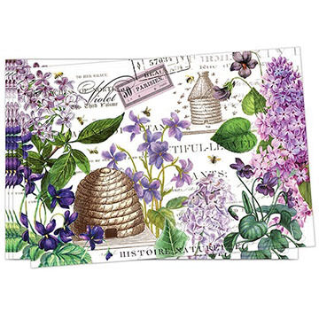 Michel Design Works Lilac And Violets Fabric Placemat