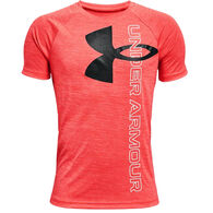 Under Armour Boy's Tech Logo Split Hybrid Short-Sleeve T-Shirt