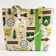 Little Man Women's Roam Print Fabric Workforce Vegan Tote Bag
