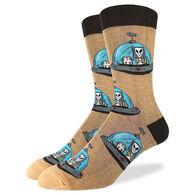 Good Luck Sock Men's Alien Otters Crew Sock