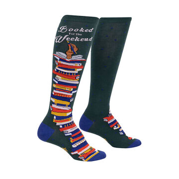 Sock It To Me Womens Booked for the Weekend Knee High Sock