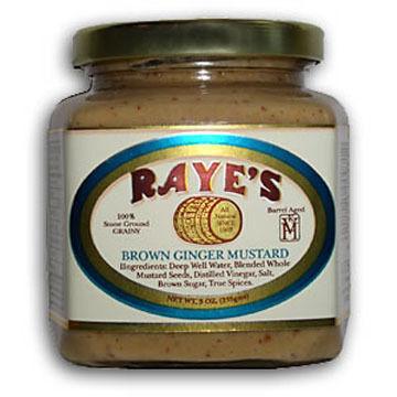 Raye's Brown Ginger Mustard, 9 oz.
