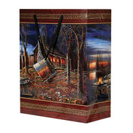 Rivers Edge Cabin Scene Gift Bag