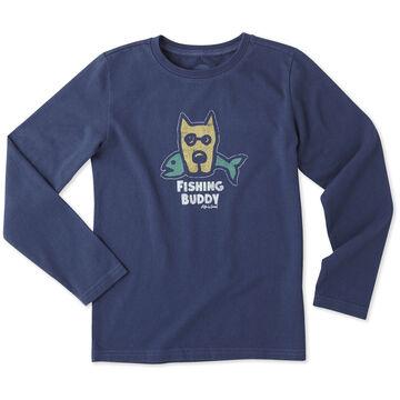 Life is Good Boy's Fishing Buddy Crusher Long-Sleeve Shirt