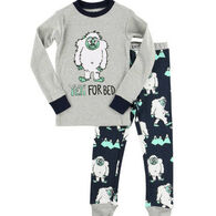 Lazy One Toddler Boy's Yeti For Bed PJ Set