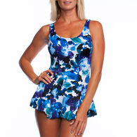Maxine Women's Full Figure Waterflower Swimdress