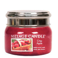 Village Candle Small Glass Jar Candle - Crisp Apple