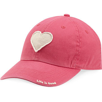 Life is Good Women's Heart Tattered Chill Cap