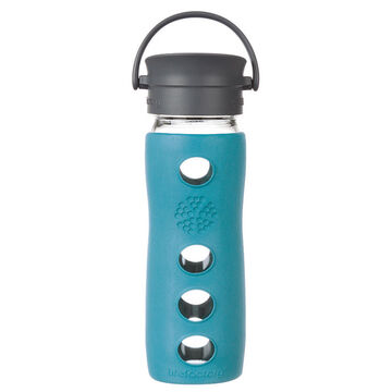 Lifefactory 16 oz. Glass Mug w/ Cafe Cap & Insulating Sleeve