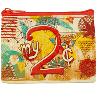 Blue Q Women's My 2 Cents Coin Purse